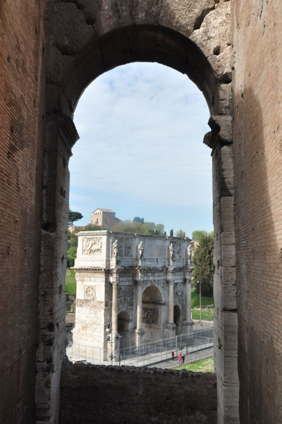 The Arch of Constantine as seen from the Colosseum