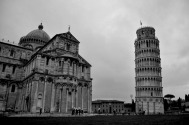 The Duoma cathedral together with the leaning tower of Pisa