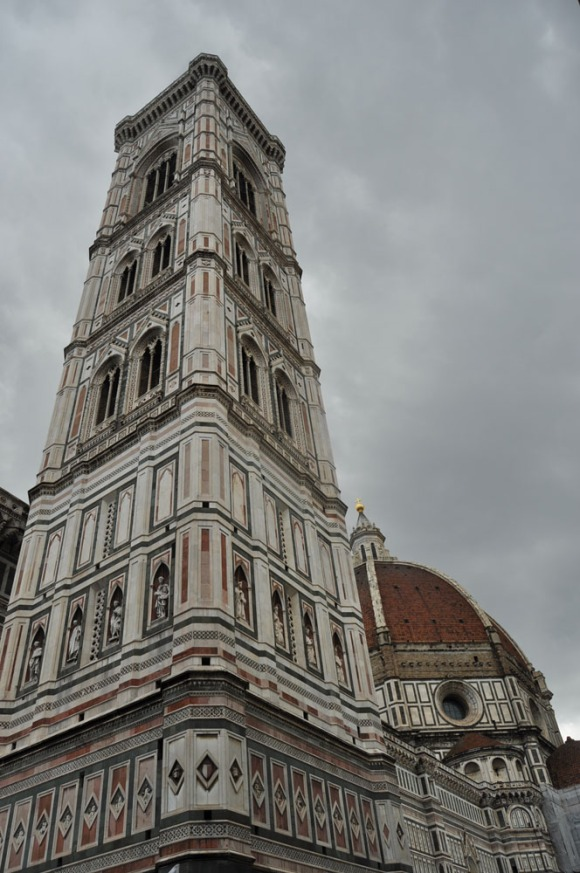 The Campanile in Florence, Italy