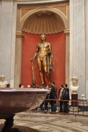 Magnificent bronze statue in the Vatican Museums