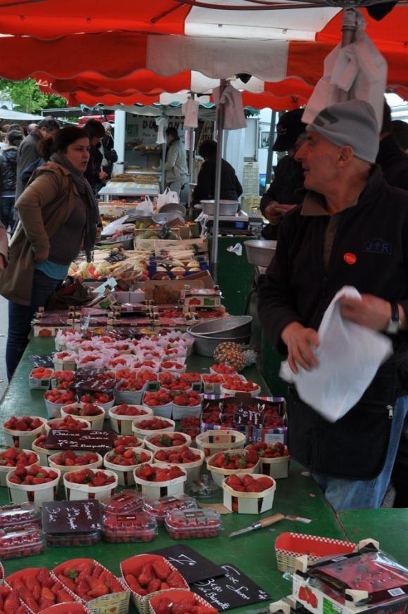 Fresh produce market Lyon, France