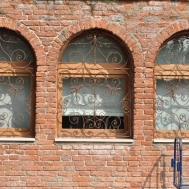 Glass-blowers' window on Murano, Venice