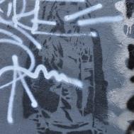 Layered graffiti in Montmartre, Paris