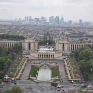 Esplanade du Trocadero, with Paris CBD in the background