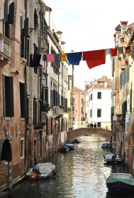 Idyllic canal view in Venice