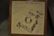 Map of the medieval Louvre
