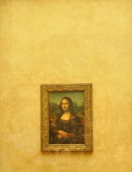Obligatory pic of the Mona Lisa (1503 - 05), Leonardo da Vinci. Getting close to this painting is almost impossible, with crowds thronged in front of it non-stop.