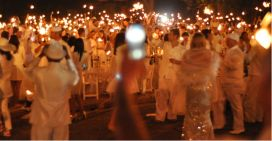 Sparkly dresses and skies at Diner en Blanc Johannesburg