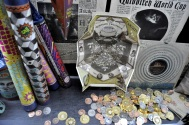 Art - fireworks, quidditch world cup flyers and wizarding coins from HP