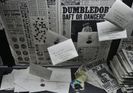 The letters addressed to Harry at number 4 Privet Drive were hand-written. Only the flood of letters assaulting the house at a later stage were printed copies of the originals. The weight of the letters also had to be taken into account, so that owls could actually fly with them.