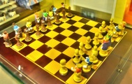 M and Ms in London - chess sets