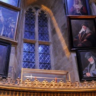 Props and portraits - The headmasters of Hogwarts with the Sword of Gryffindor