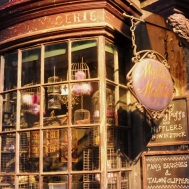 Set details - shop front of the magical menagerie in Diagon alley