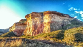 Another HDR experiment, the golden light on the left of the cliff face is from the setting sun