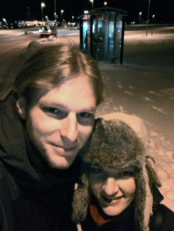 Bus stop selfie